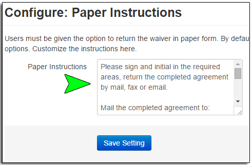 Creating An Online Waiver Arctic Reservations Support