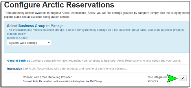 Setting Up Email List Integration – Arctic Reservations Support